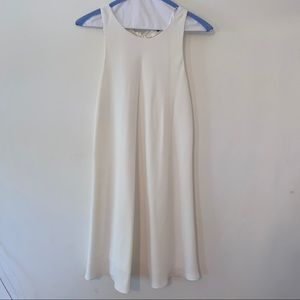 White Zara Open Back Mini Shift Dress